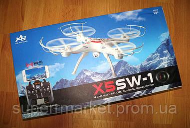 Квадрокоптер дрон X5SW-1 с камерой Wi-Fi  (в стиле drone Syma X5SW) Xin Kai Yang