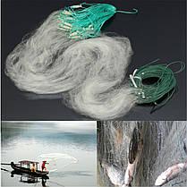 30м х 1.2м прозрачный белый рыбалка рыба ловушка мононити жаберных нетто Nylon шелковые сетки, фото 3
