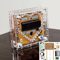 DC 5V поделки красочная музыка mp3 в форме сердца RGB LED флэш-комплект