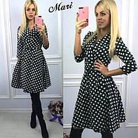 Стильное платье с модным гороховым принтом МС-12.063