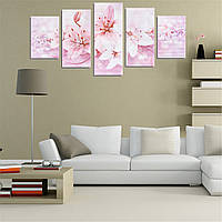 5 штук лилии бескаркасных современные холст картины росписи стены картина картины украшения дома