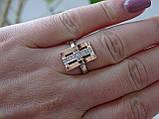 Серебряное кольцо с золотой пластинкой, фото 6