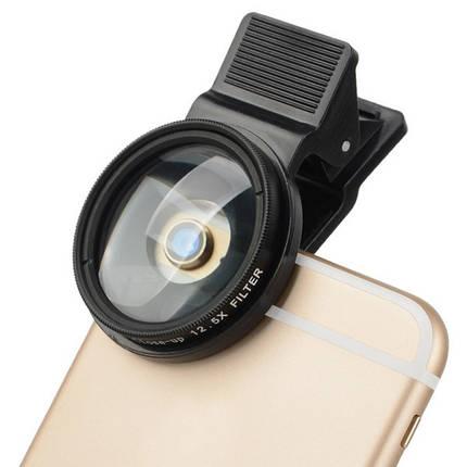 Zomei 37мм 12.5x закрыть телефон фильтра для объектива Iphone Huawei Samsung Xiaomi андроид ИОС с зажимом, фото 2