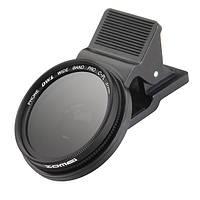 Zomei 37мм профессиональная камера сотового телефона круговой поляризатор объектив CPL для iPhone Галактика Android смартфон Xiaomi Samsung HTC