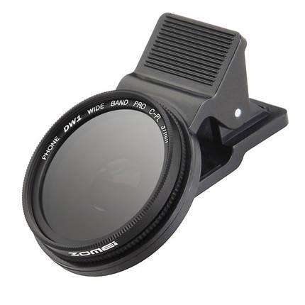 Zomei 37мм профессиональная камера сотового телефона круговой поляризатор объектив CPL для iPhone Галактика Android смартфон Xiaomi Samsung HTC, фото 2