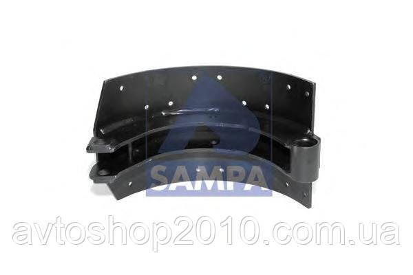 100.309   Колодка гальмівного барабана 410x220 МВ (в-во SAMPA)