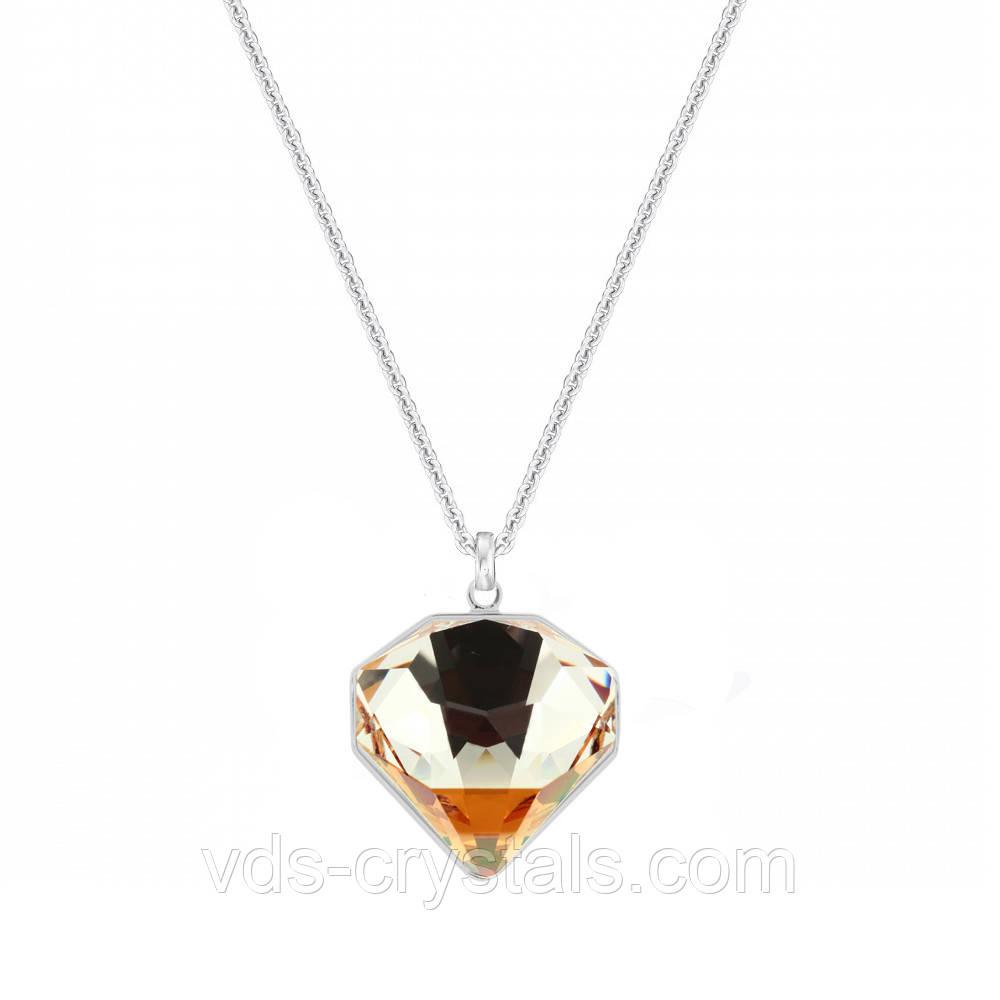 Кулон Сваровски на цепочке Brilliant Crystal Copper
