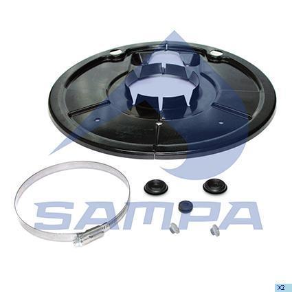 075.616 | Пильник барабана гальмівного на колесо SAF 126x402x44 (в-во SAMPA)