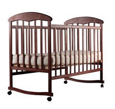 Детская кроватка Наталка - Ольха (темная)