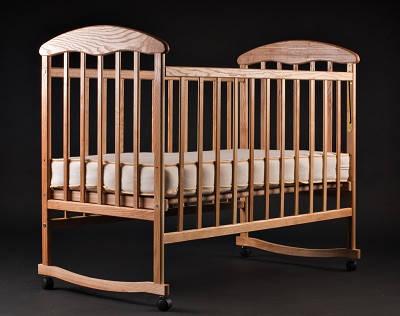 Детская кроватка Наталка - Ясень (светлая)