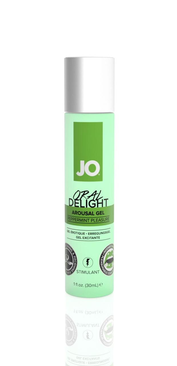 Возбуждающий гель для оральных ласк System JO ORAL DELIGHT - PEPPERMINT PLEASURE (30 мл)