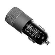 Авто Зарядное устройство Быстрая зарядка Dual Usb Многофункциональный алюминиевый сплав Авто Зарядное устройство, фото 2