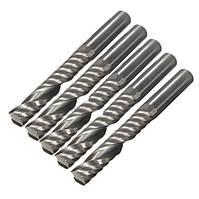 5pcs 6 мм хвостовик одиночный флейта резак концевой фрезы 32мм комплект вольфрама чел стали чпу биты