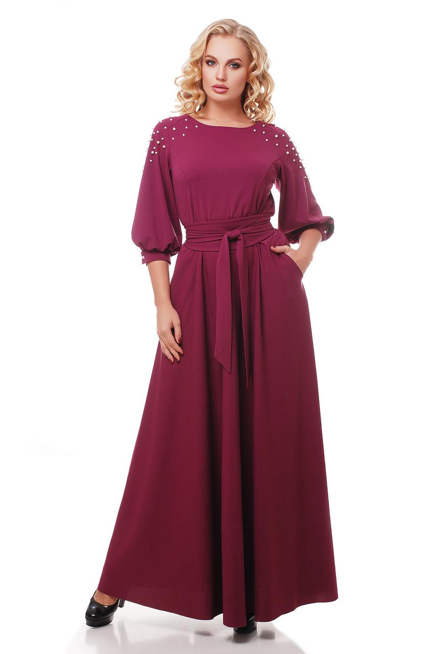 Платье в пол Вивьен марсала