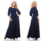 Вечернее платье Вивьен темно-синее, фото 4