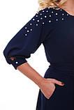 Вечернее платье Вивьен темно-синее, фото 6