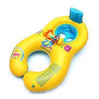 Родитель-ребенок надувные кольца плавание двойное кольцо дети плавать бассейн игрушки