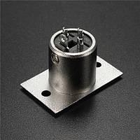 Разъем шасси XLR мужской панели установлен разъем разъем 3-контактный разъем для микрофона