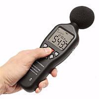 30-130db ЖК-цифровой уровень звука измерения децибеллометр регистратор тестер шума