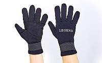 Перчатки для дайвинга LEGEND (3мм неопрен, р-р L-XL, черный)