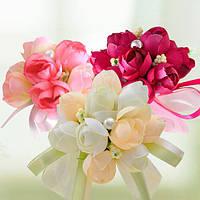 Свадебные украшения запястья цветок невесты невесты сестры руки моделирования цветок корсаж букеты