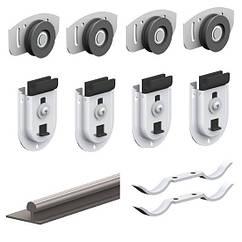 Комплект роликов для двух дверей шкафа-купе Valcomp ARES 2