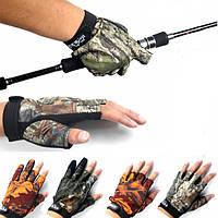 Анти скольжения на открытом воздухе рыболовные перчатки 3 пальца 5 пальцев перчатки для мужчин против