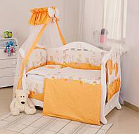Twins Comfort С-021 Горошки оранжевый комплект белья из 8 предметов