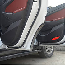 4шт углеродного волокна двери защитная наклейка анти удар пленка для Hyundai Тусон 2015-2016, фото 3