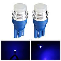 1.5w 12v W5W синий LED сигнальная лампа сторона мейкера свет поворота автомобиля клин T10 пара