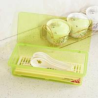 Многофункциональная пластиковая кухонная посуда Палочки для еды Ложка для хранения вил Коробка с капюшоном