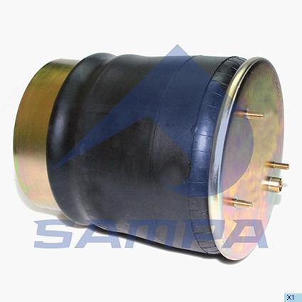 SP 55836-K01   Пневморесора 836 M K1 з склянкою (сталь) DAF (скл.-D230x135) (в-во SAMPA)