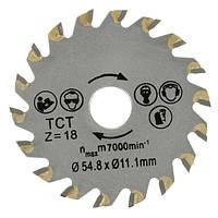 18 зубьев диаметр 54.8mm круговой TCT пилы для резки бетона цемент древесины лезвие пилы