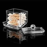 Q-Tip ящики для хранения хлопка держатель тампон Прозрачный акриловый косметический макияж принадлежности кейс отелей