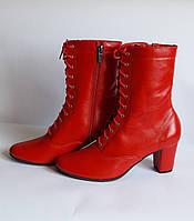 Сапожки народные красные на шнурках
