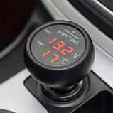 Автомобильный термометр-вольтметр usb vst 706-1, фото 2