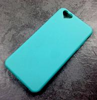 Голубой силиконовый чехол iphone 5/5S с заглушками