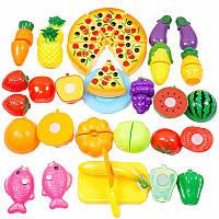 24pcs резки овощной фрукты кухня еда притвориться ролевые игры игрушка набор детей подарок