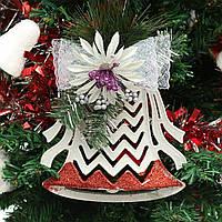 Plastic Christmas Tree Ornaments White Christmas Decoration Hollow Half Pendant
