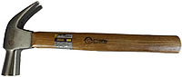 Молоток-гвоздодер Сталь 225 гр, ручка из дерева (арт.44037)