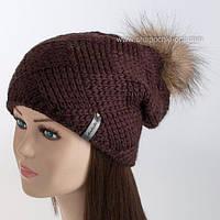 Женская шапка без отворота Квадрат