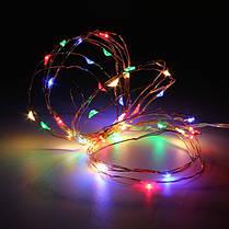 3m водонепроницаемый LED батареи мини LED медный провод фея свет шнура праздник света рождества партии, фото 3