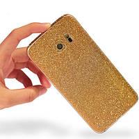 Красочные скраб мигающий алмаз защита телефон кожи наклейка для всего тела Samsung Galaxy S6 край