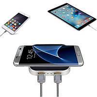 10w быстрая зарядка беспроводная зарядка площадку для F400-U qc2.0 алюминия iPhone Samsung HUAWEI смартфон