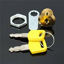16мм Затвор файл двери шкафа письмо почтовый ящик ящик шкаф с 2 ключа, фото 3