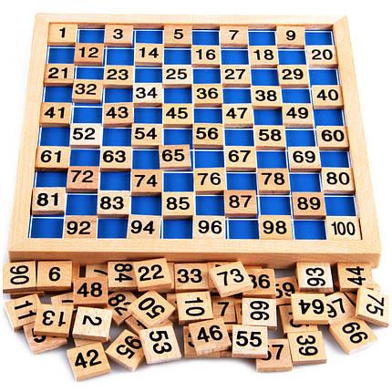 Монтессори математика материал ребенок учится деревянный educationa число от 1 до 100, фото 2
