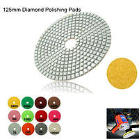 30-10000 Грит алмаз мокрой полировки колодки колес 125 мм для мрамора бетона гранита