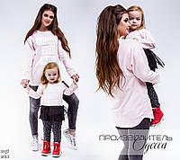 Туника детская двух-нить с фатином, розовая
