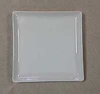 Тарелка для суши керамическая 18 см. Квадратная (посуда для суши)