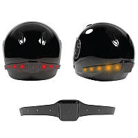 Беспроводной мотоцикл умный шлем LED свет безопасности работы тормозной сигнал поворота
